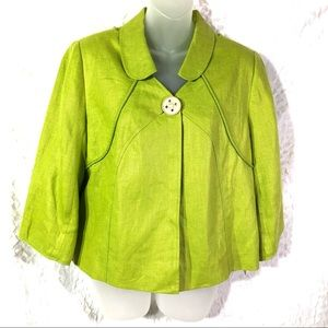 Laura Ashley Linen lime green jacket PL NEW blazer